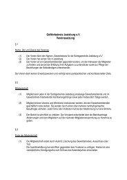 Aktuelle Satzung - Gewerbekreis Jesteburg