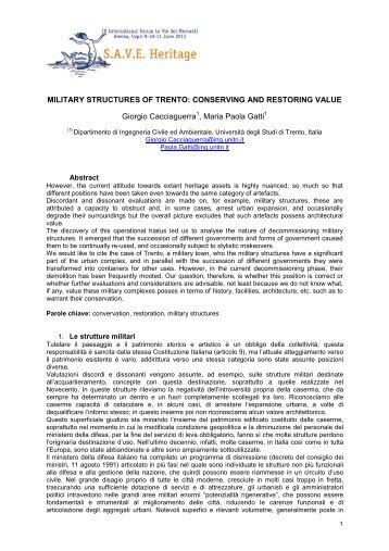 MILITARY STRUCTURES OF TRENTO - La scuola di Pitagora editrice