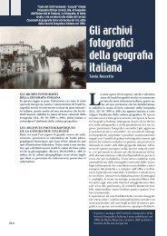 Gli archivi fotografici della geografia italiana, di Tania Rossetto