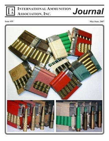 Journal IA - International Ammunition Association