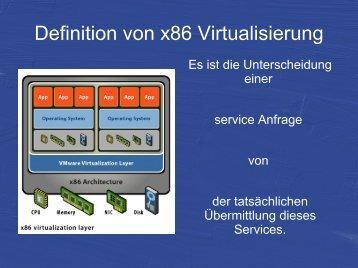 Definition von x86 Virtualisierung - Systemhaus Kolb
