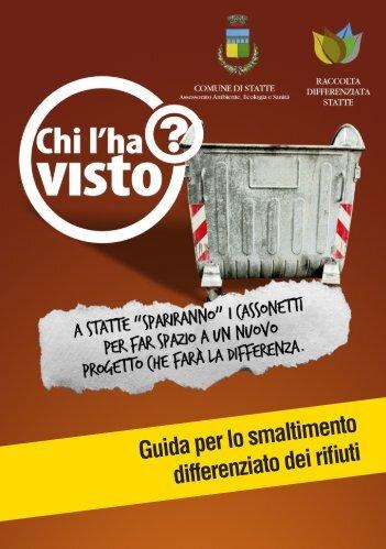 Guida per lo smaltimento differenziato dei rifiuti - Fai la Differenza