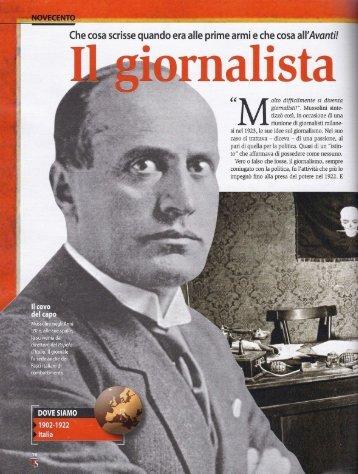 """""""Malto difficilmente si diventa giornalisti!"""". Mussolini sinte- tizzò così ..."""