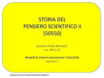 STORIA DEL PENSIERO SCIENTIFICO II (50550)