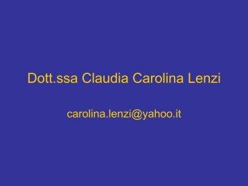 Dott.ssa Claudia Carolina Lenzi