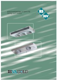AEROEVAPORATORI A SOFFITTO Ceiling unit coolers - Rivacold UK
