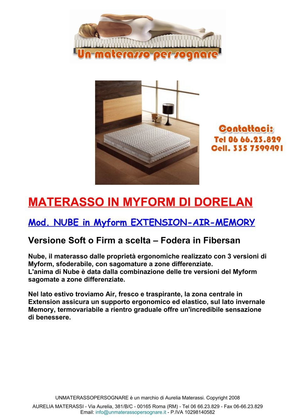 Materassi Myform.1 Free Magazines From Unmaterassopersognare It