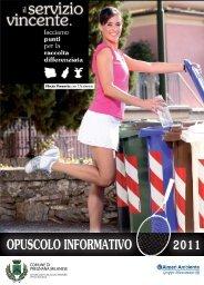 Opuscolo informativo 2011 raccolta differenziata - Comune di ...