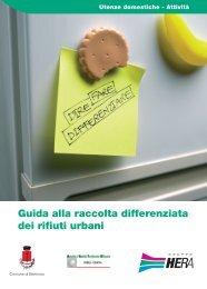 Guida alla raccolta differenziata dei rifiuti urbani - Comune di Bertinoro