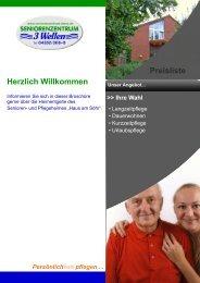Herzlich Willkommen Preisliste - Seniorenzentrum 3 Wellen