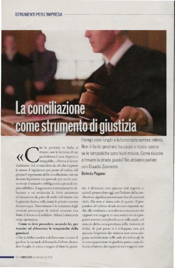 La concilliazione come strumento di giustizia - Copyright © 2009 ...