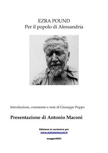 Per il popolo di Alessandria - Maconi, Antonio