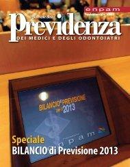 Speciale BILANCIO di Previsione 2013 - Enpam
