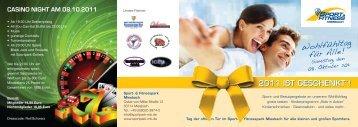 Flyer Info Tag Sportpark und Tkd - Taekwondo Schule Fichtner