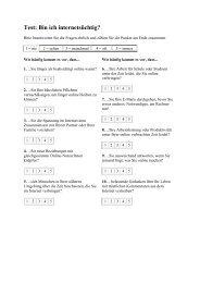 zum Test: Bin ich internetsüchtig? (pdf-download)