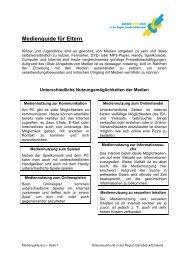 Medienguide für Eltern - Diakonieverbund Sucht Osnabrück-Emsland