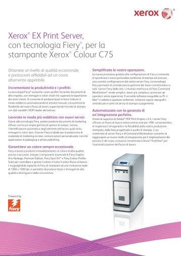 Xerox EX Print Server, Powered by Fiery® for the Xerox C75