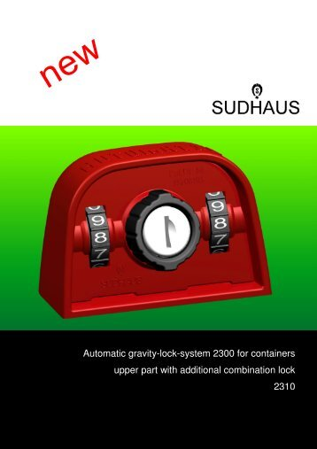 Automatic gravity-lock-system 2300 for containers upper ... - sudhaus