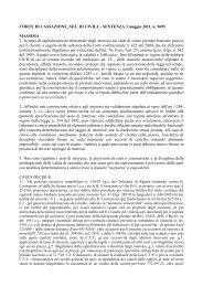CORTE DI CASSAZIONE, SEZ. III CIVILE - SENTENZA 3 maggio ...