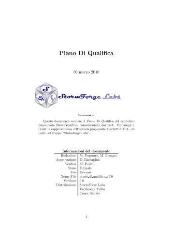 Piano Di Qualifica - Find and develop open source software