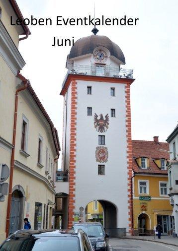 Leoben Eventkalender Juni