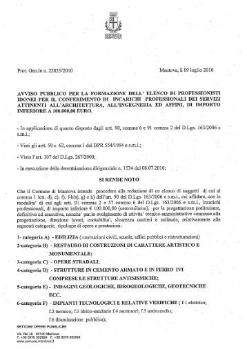 Lettera conferimento incarico professionale comune di adrano for Lettera di incarico prestazione servizi