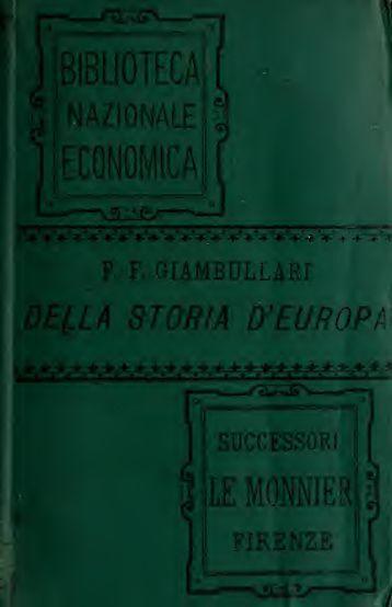 Della istoria d'Europa; libri sette