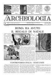 roma ha avuto il regalo di natale - Gruppi Archeologici d'Italia