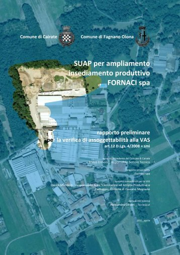 SUAP per ampliamento insediamento produttivo FORNACI spa