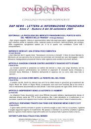 D&P News Anno 2 n. 8 del 30 settembre 2007 - Donadi and ...
