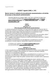 LEGGE 7 agosto 1990, n. 241 Nuove norme in materia di ... - Adisu