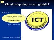 Cloud computing: aspetti giuridici - Ordine dei Dottori Commercialisti ...