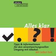Alles klar? Tipps und Informationen für den ... - Suchthilfe Aachen