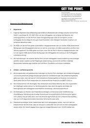 AGB - GET THE POINT. → Agentur für sinnvolle Kommunikation