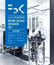 Report Sociale Integrato 2011 - AIRT - Area Innovazione e Relazioni ...