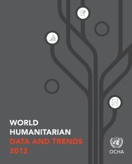WORLD HUMANITARIAN DATA AND TRENDS 2012