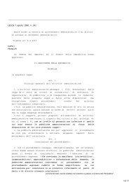 Norme sul procedimento amministrativo e diritto di accesso