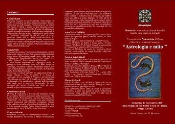 """""""Astrologia e mito """" - Simmetria"""