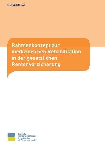Rahmenkonzept medizinische Rehabilitation