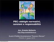 PEC - Scuola di Pubblica Amministrazione Francesco Marcone