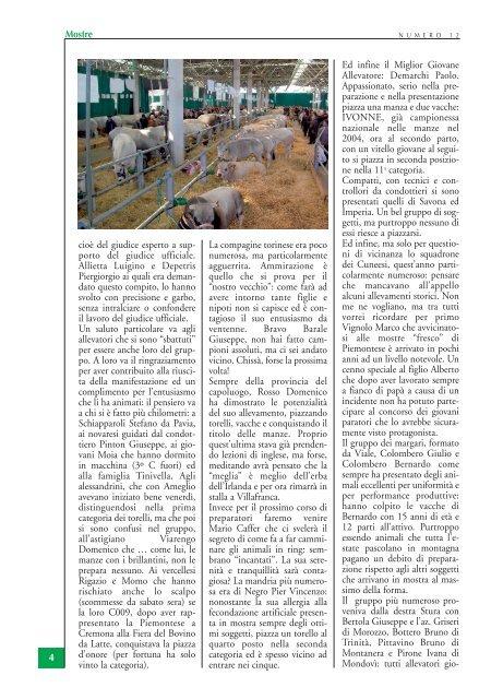 mostra nazionale 2006 - Associazione Nazionale Allevatori Bovini di ...
