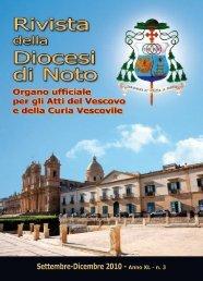 rivista della diocesi di noto