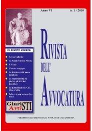 Rivista n 1- 2010.bisAqxd - Dott. Vito CM Milisenna