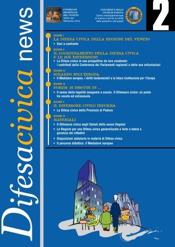 Download del Bollettino n.2 - Difensore civico della Regione del ...