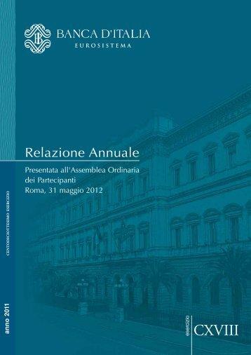 Relazione Annuale 2011 della Banca d'Italia - Legautonomie