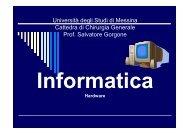 INFORMATICA hardware - Università degli Studi di Messina