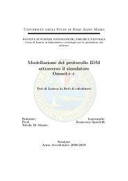 Modellazione del protocollo IDM attraverso il simulatore Omnet++