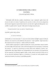 LE TEORIE MINIMALI DELLA VERITA' Carlo Filotico ... - Istituto Banfi