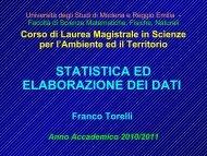 dispense 2010 2011 - Scienze della terra - Università degli Studi di ...
