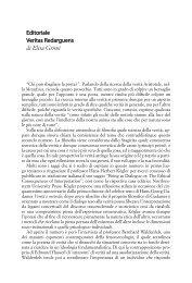 Editoriale Veritas Redarguens di Elisa Grimi - Philosophical News
